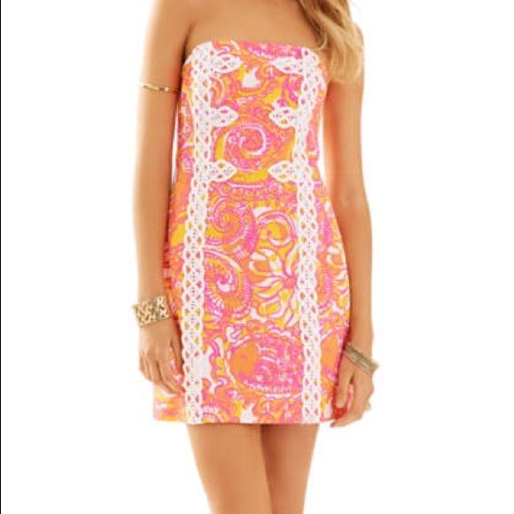 4da503518885 Lilly Pulitzer Dresses | Tansy Strapless Dress | Poshmark